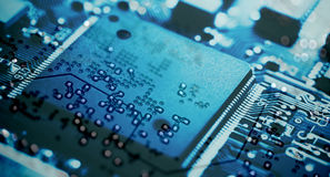 Circuit Board, Microchip Royalty Free Stock Image