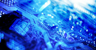Circuit Board, Microchip Stock Photos