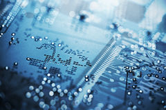 Circuit Board, Microchip Stock Image