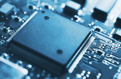 Circuit Board, Microchip Stock Image
