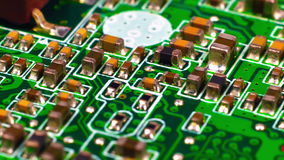 Circuit Board With Microchips stock video footage