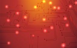 Circuit board orange background Royalty Free Stock Images