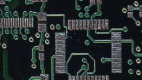 Circuit Board Pan and Scan - Clip 9 stock video footage