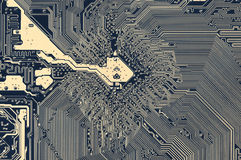 Circuit board pattern Royalty Free Stock Photography