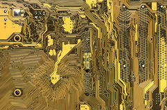 Circuit board pattern Stock Images