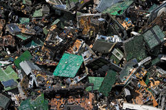 Circuit board pile Stock Photography