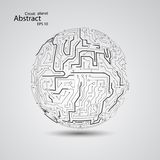 Circuit board planet eps 10 Stock Photography