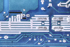 Circuit board. Plate of electronic components Royalty Free Stock Images
