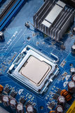 Circuit board with processor. Close-up of electronic circuit board with processor Stock Image