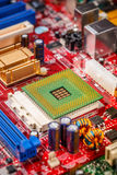 Circuit board with processor Royalty Free Stock Photography