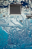 Circuit board with processor. Stock Image