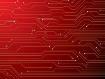 Circuit board red stock illustration