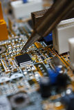 Circuit board repair Royalty Free Stock Photos