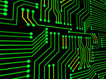 Circuit Board Represents Hi Tech And Electronics Royalty Free Stock Image