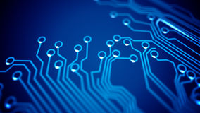 Circuit board's signals. Royalty Free Stock Photography