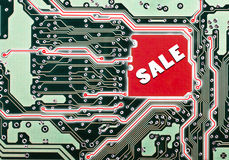 A circuit board for a sale Stock Photos