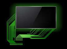 Circuit board with screen Stock Image