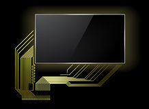 Circuit board with screen Royalty Free Stock Photos
