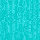 Circuit board seamless  background. Royalty Free Stock Image