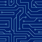 Circuit board seamless pattern Royalty Free Stock Images