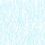 Circuit board seamless vector background. Royalty Free Stock Photos