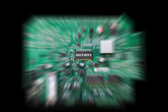 Circuit board with security chip Royalty Free Stock Images