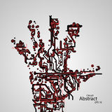 Circuit board shape of hand palm eps10. Vector elegant illustration Royalty Free Illustration