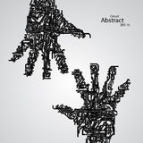 Circuit board shape of hand palm eps10. Vector elegant illustration Royalty Free Stock Image