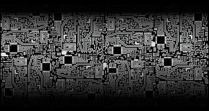 Circuit board - silver black - vector Royalty Free Stock Image