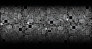 Circuit board - silver black - vector Royalty Free Stock Image