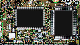 Circuit board with SMD components Royalty Free Stock Photography