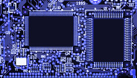 Circuit board with SMD components Stock Images