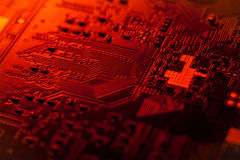Circuit board, SMT. Circuit board of tablet PC closeup shot Royalty Free Stock Photos