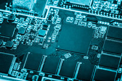 Circuit board, SMT. Circuit board of tablet PC closeup shot Stock Photo
