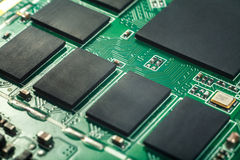 Circuit board, SMT. Circuit board of tablet PC  closeup shot Stock Images