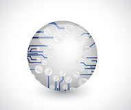 Circuit board sphere illustration design Stock Photo