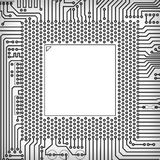 Circuit board square frame Stock Images