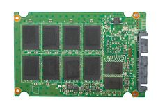 Circuit Board of an SSD Royalty Free Stock Photos