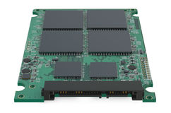 Circuit Board of an SSD Royalty Free Stock Images
