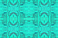 Circuit board symmetrical technology background. Azure Circuit board symmetrical technology background Royalty Free Stock Photography