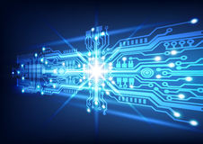 Circuit board technology  background. Vector illustration Royalty Free Stock Images