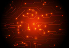 Circuit board technology, vector background Royalty Free Stock Photo