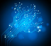 Circuit board tree background Stock Image