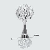 Circuit board tree Royalty Free Stock Image