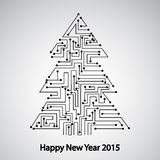 Circuit board, Tree for the new year Royalty Free Stock Image