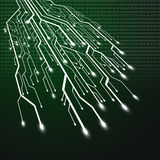 Circuit board in tree shape Royalty Free Stock Photography