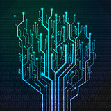 Circuit board in Tree shape Royalty Free Stock Photos