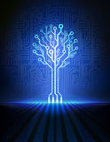 Circuit Board Tree. Vector Background Royalty Free Stock Photography