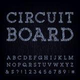Circuit board type font. Vector Alphabet. Stock Photos