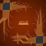 Circuit board vector background Royalty Free Stock Images